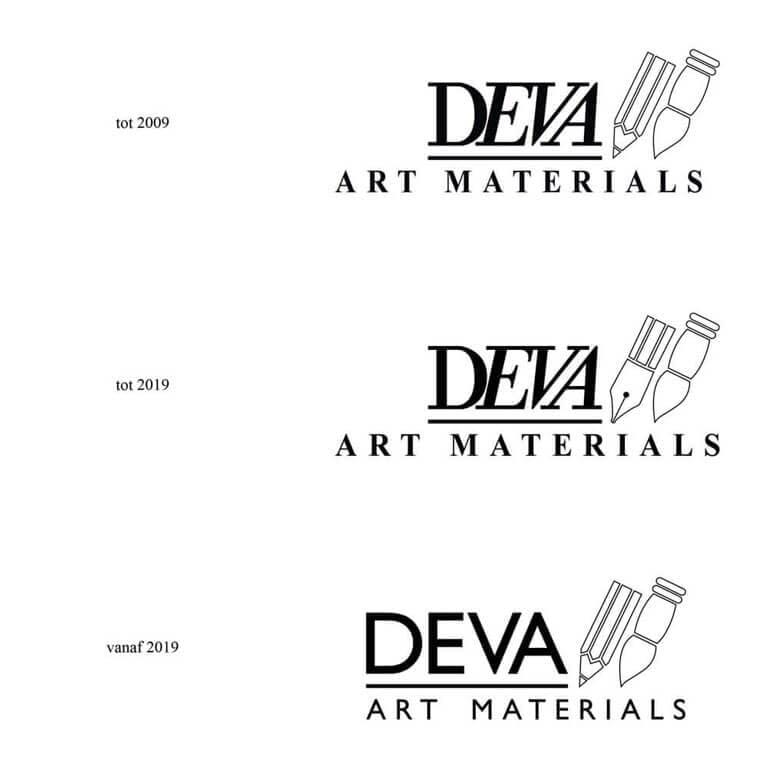 Logo aanpassing Deva art materials