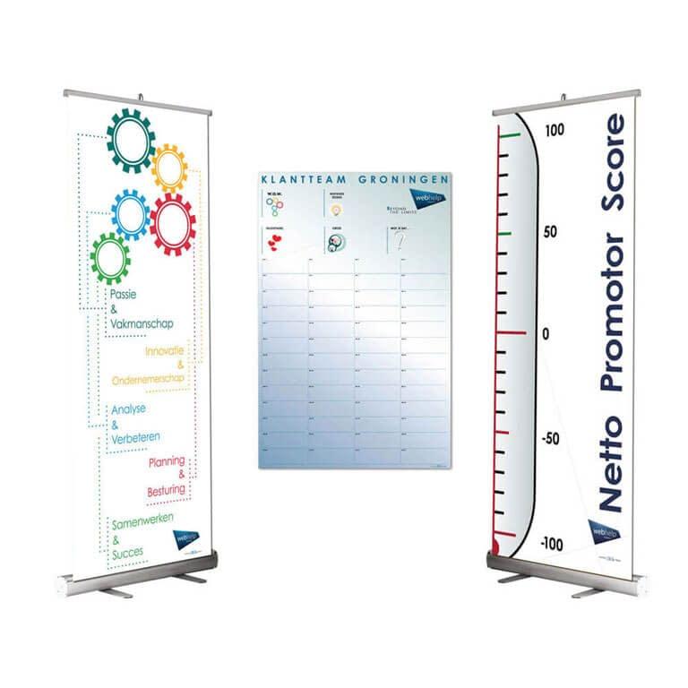 Beschrijfbare Peilbanner en kalender WebHelp